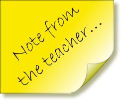 A note from teacher